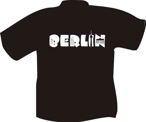 T-Shirt Berlin mit Sightseeings im Text