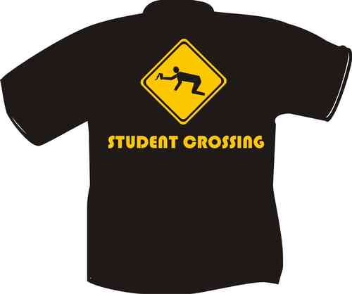 T-Shirt Student crossing