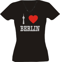 T-Shirt I love Berlin Lady Silber