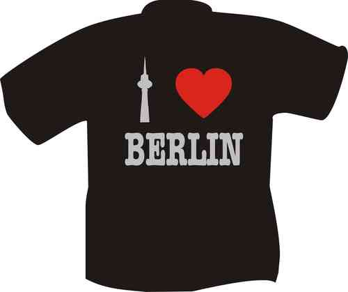 T-Shirt I love Berlin silber