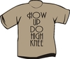 T-Shirt How Up Do High Knee