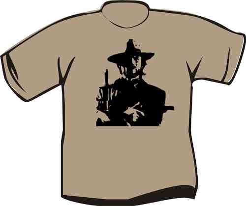 T-Shirt Clint Eastwood Uniform Bustbild