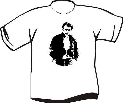 T-Shirt James Dean mit Lederjacke