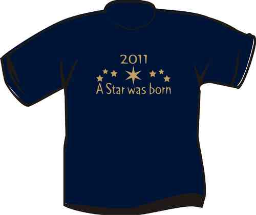 Kinder T-Shirt A Star was born