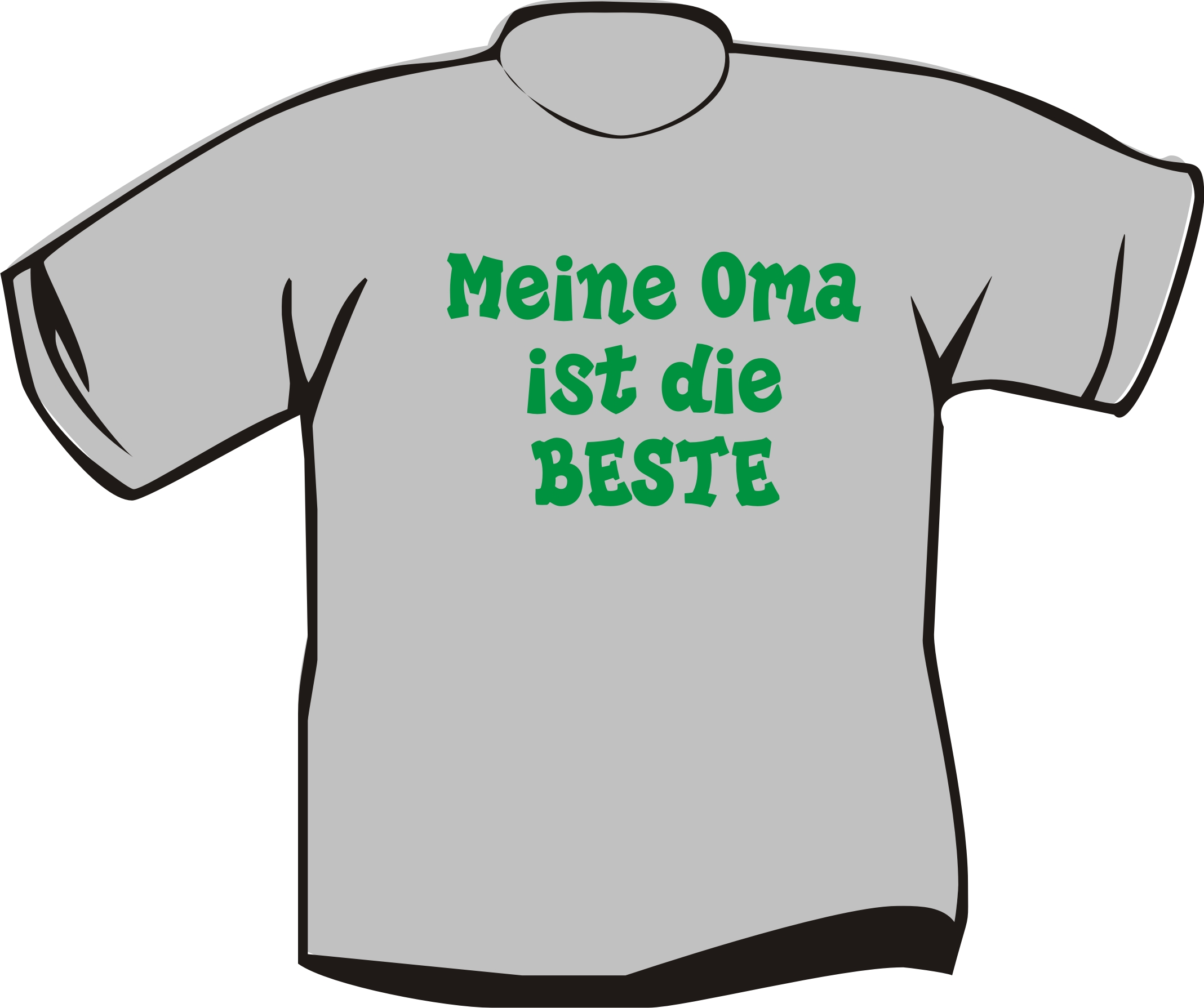 kinder t shirt meine oma ist die beste textildruck berlin. Black Bedroom Furniture Sets. Home Design Ideas