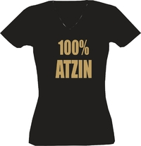 T-Shirt Lady V-Neck  100% Atzin
