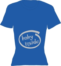T-Shirt Lady Crew-Neck  Baby Inside