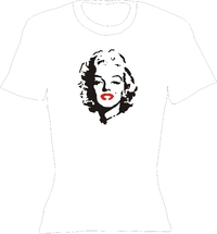 T-Shirt Lady Crew-Neck  Marylin Monroe Kopf
