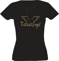 T-Shirt Lady V-Neck  Teilzeitengel
