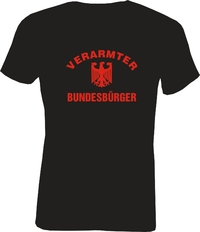 T-Shirt Slim Fit  Verarmter Bundesbürger